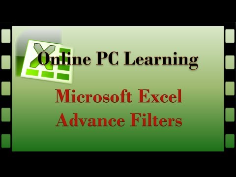 Excel Tutorial -  Advanced Filters Rev Up Your Workbook - Excel Tutorial Filters