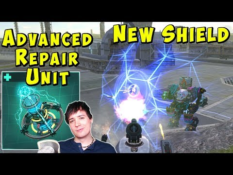 ADVANCED REPAIR UNIT - War Robots Test Server Gameplay WR