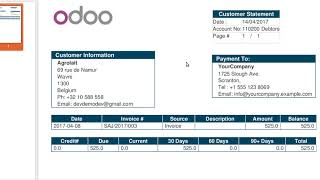 How to print Customer statement in odoo (Accounting - Customer aging )