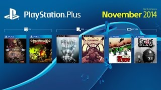 PS Plus November 2014 Lineup Video