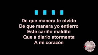 De que Manera te Olvido al Estilo de Vicente Fernandez Karaoke Version