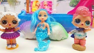 Le piccole LoL Surprise visitano Meraviglioso Mondo delle Sirene!! in Italiano per piccoli