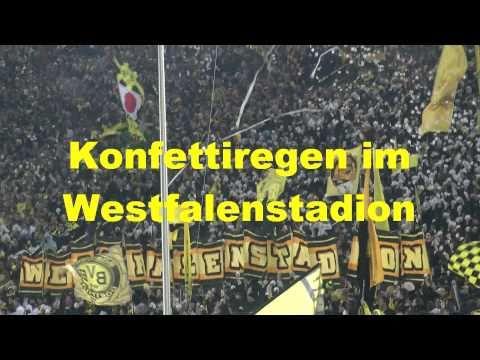 BVB-Gladbach Konfettiregen Borussia Dortmund- Mönchengladbach 4-1