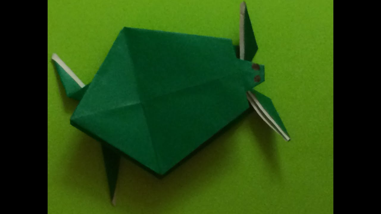 Origami for Beginners - turtle - YouTube - photo#50