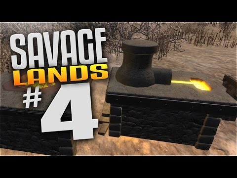 Savage Lands Gameplay - EP 4 - FORGE, SMELTER, & BLACKSMITH! (Let's Play Savage Lands)