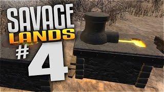Savage Lands Gameplay - EP 4 - FORGE, SMELTER, & BLACKSMITH! (Let