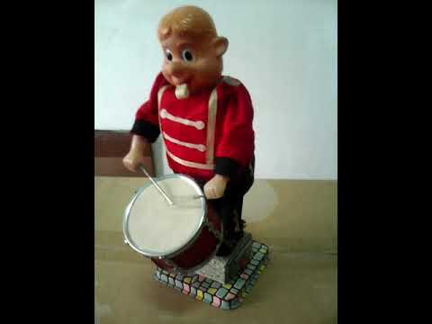 TIN JAPAN ALPS DRUMMING SOLDIER BATTERY TOY