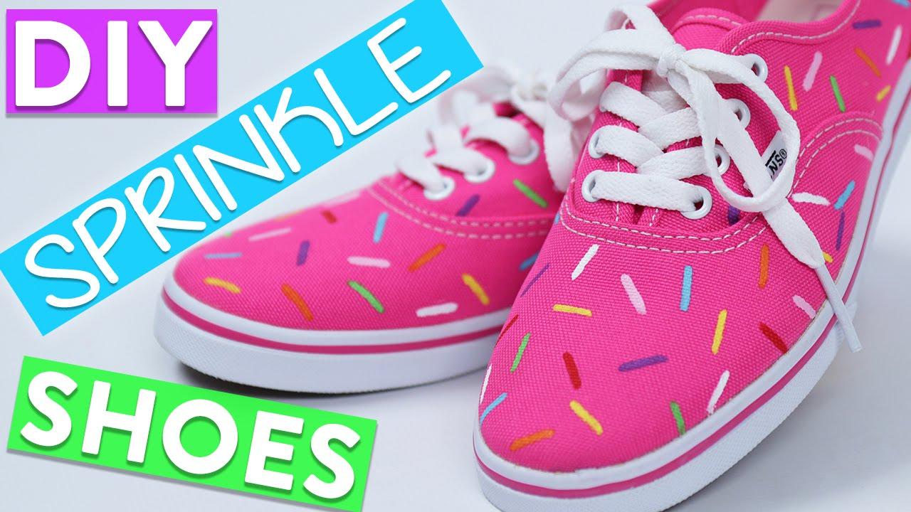 DIY SPRINKLE SHOES - YouTube