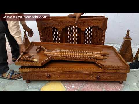 #76 DIY Wooden Temple Assembly - Easy to Carry International Packing Folding Temple @aarsunwoods.com
