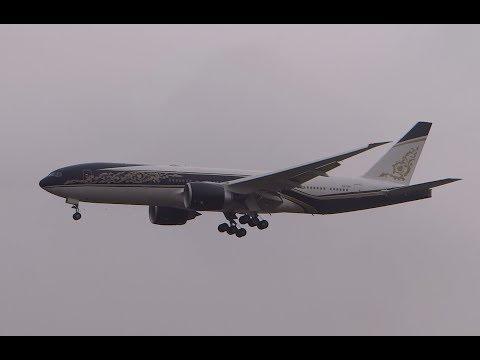 Governo  Equatorial Guinea Boeing 777-200LR pousando no Viracopos/Campinas