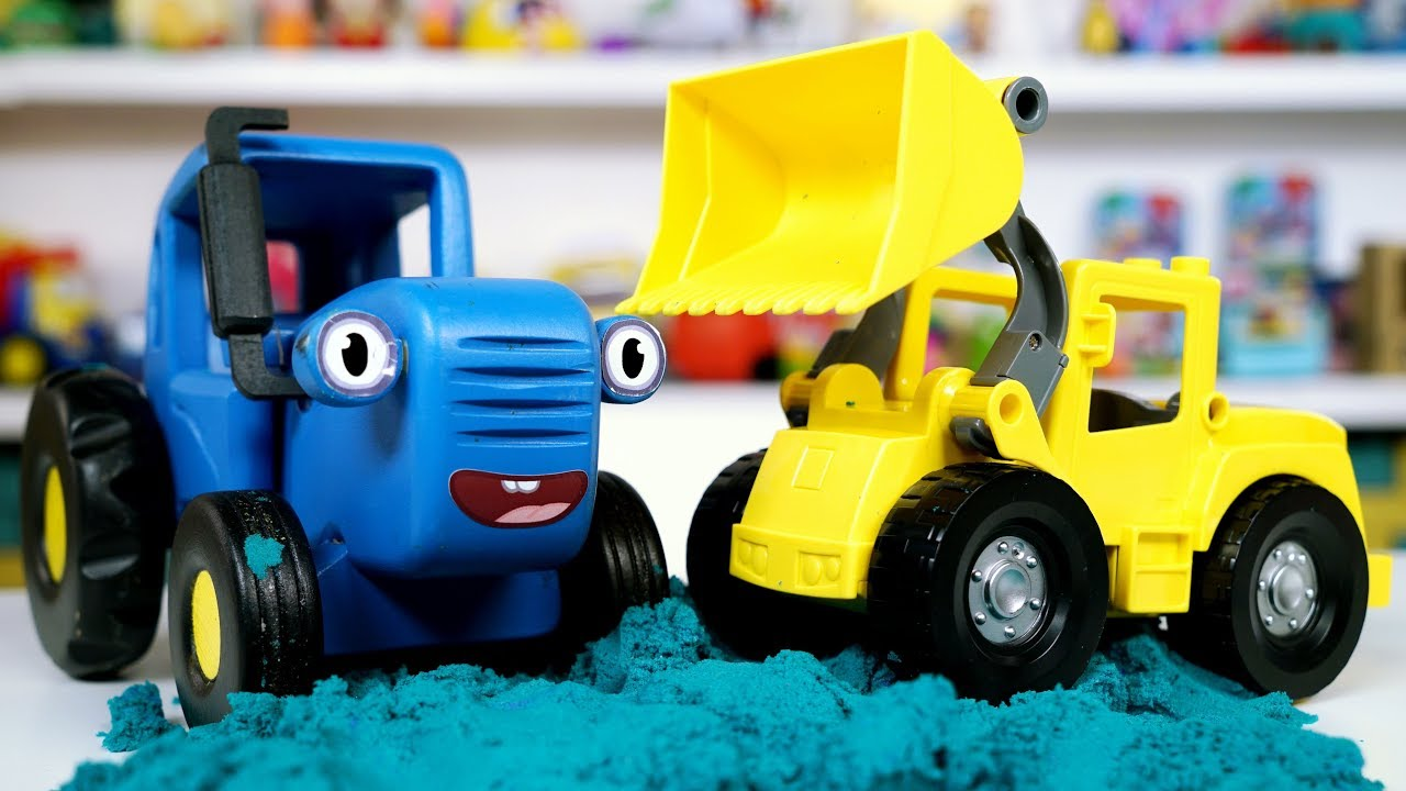Поиграем в Синий трактор - Распаковываем и собираем ...