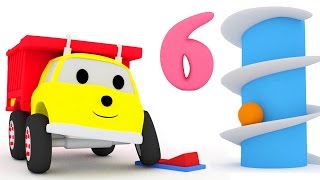 Giant slide : learn numbers with Ethan the Dump Truck | Educational cartoon for children