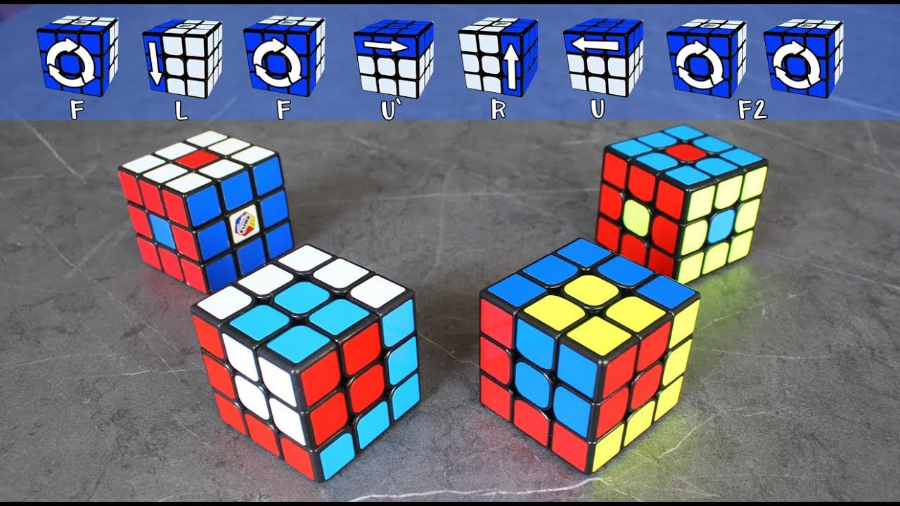 Patrones O Figuras En El Cubo De Rubik De 3x3 Youtube
