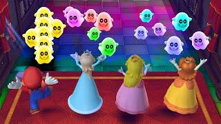 Mario Party 10 Minigames Mario vs Rosalina vs Peach vs Daisy Master Cpu