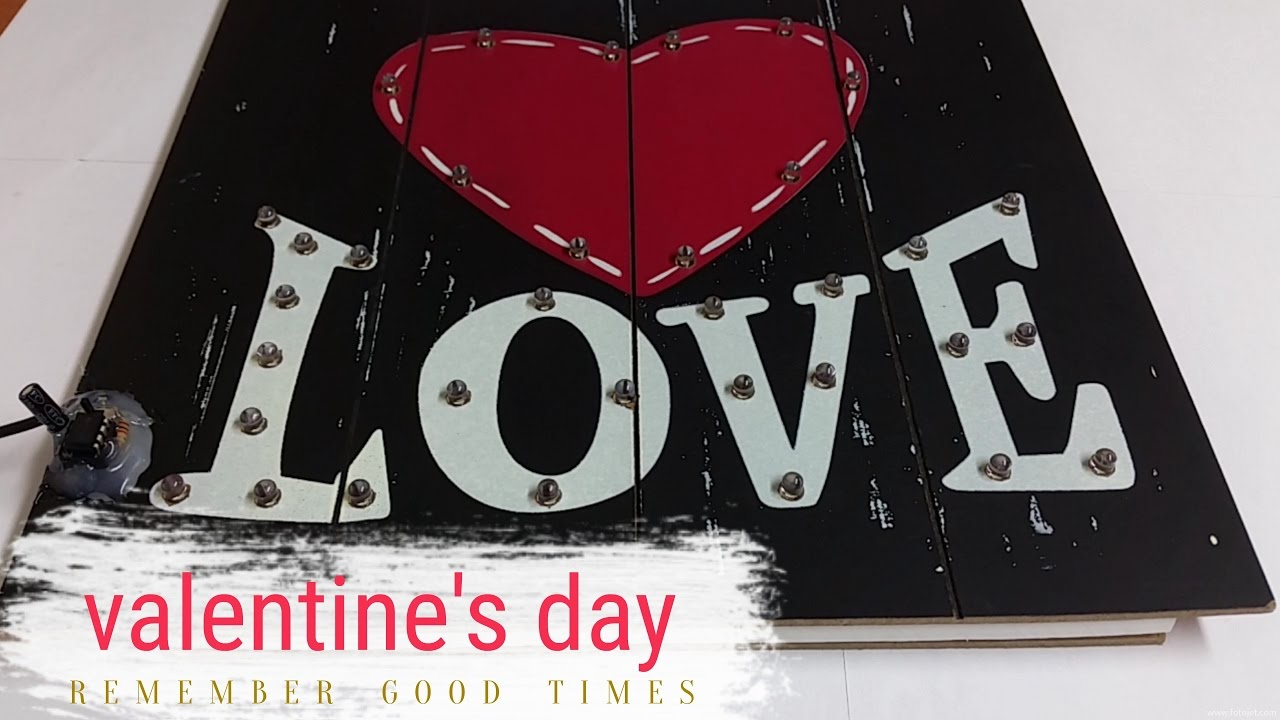Download How to make a valentine's day sign blink with LEDs