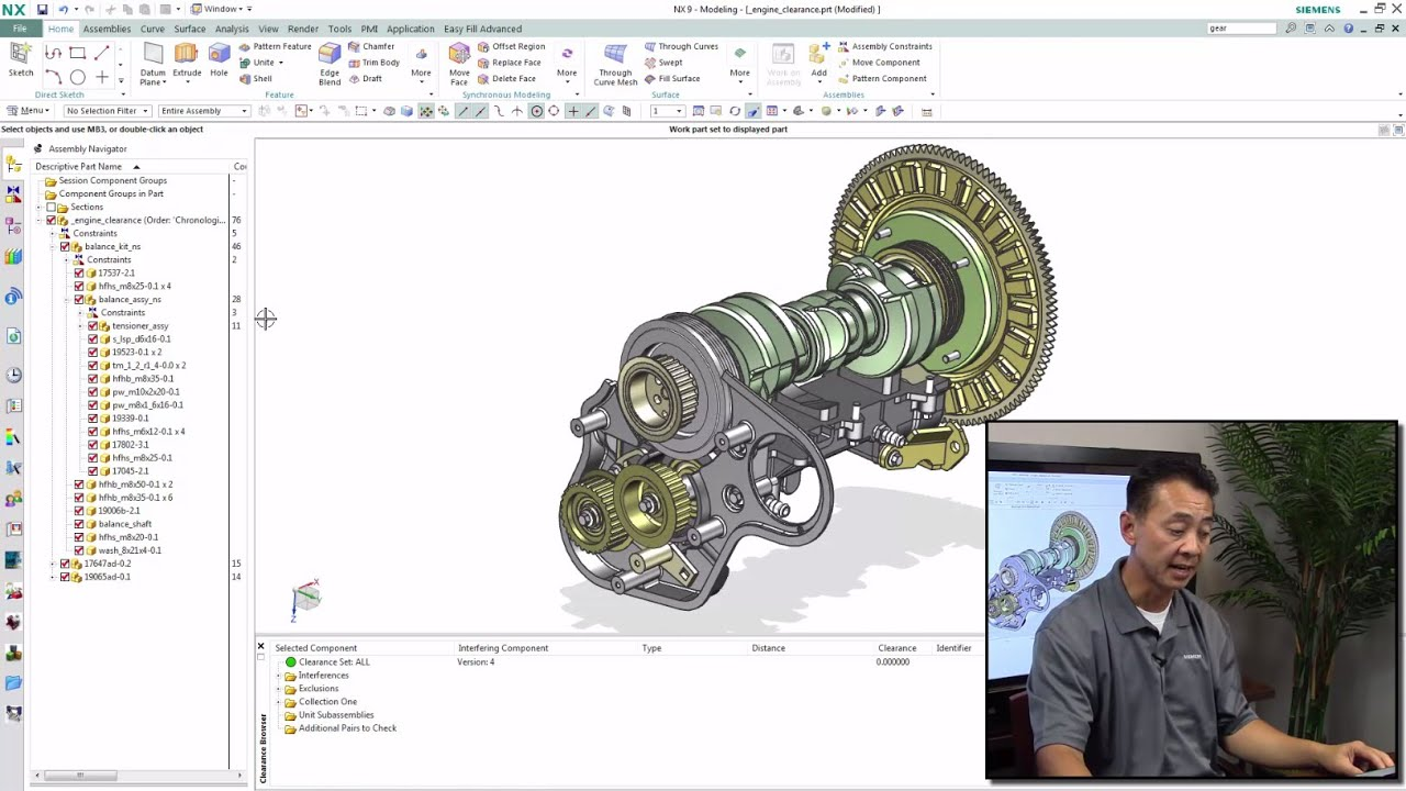 NX CAD Quick Tips: Assembly Clearance Analysis
