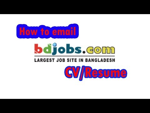 bdjobs email resume process 2018, send cv to another email or company email by one step (Nayan Mia)