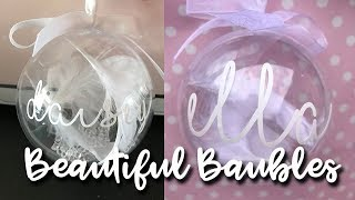 BEAUTIFUL BAUBLES IN UNDER 15 MINS - CRICUT AIR 2 - WHITE 651 VINYL - LOTTE ROACH
