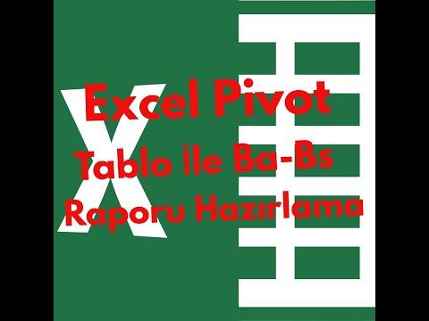 Excel Pivot Tablo İle Ba-Bs Raporu Nasıl Hazırlanabilir!Çok Hızlı Ba-Bs Raporu Hazırlama!Pivot Tablo