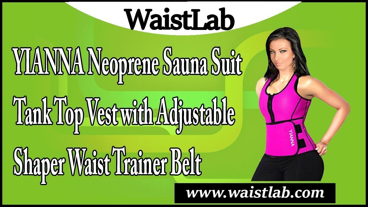 568777e3b6f YIANNA Neoprene Sauna Suit Tank Top Vest with Adjustable Shaper ...