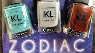 KL POLISH ZODIAC COLLECTION | WATER SIGNS | Swatch, Review, and Comparisons