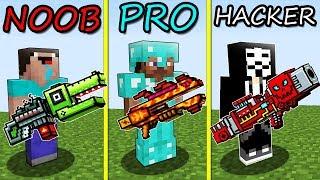 - Minecraft Battle NOOB vs. PRO vs. HACKER RAINBOW GUNS 2 in Minecraft