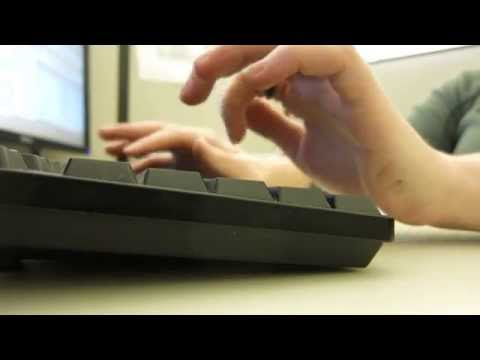 wordless ASMR - typing at the office (HD)