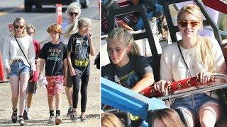 Emma Roberts And Fiance Evan Peters Treat Julia Robert's Kids To Fun At The Malibu Carnival