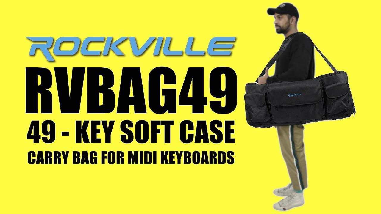d52921423095 Rockville RVBAG49 49 Key Midi Keyboard Controller Soft Case Carry Bag