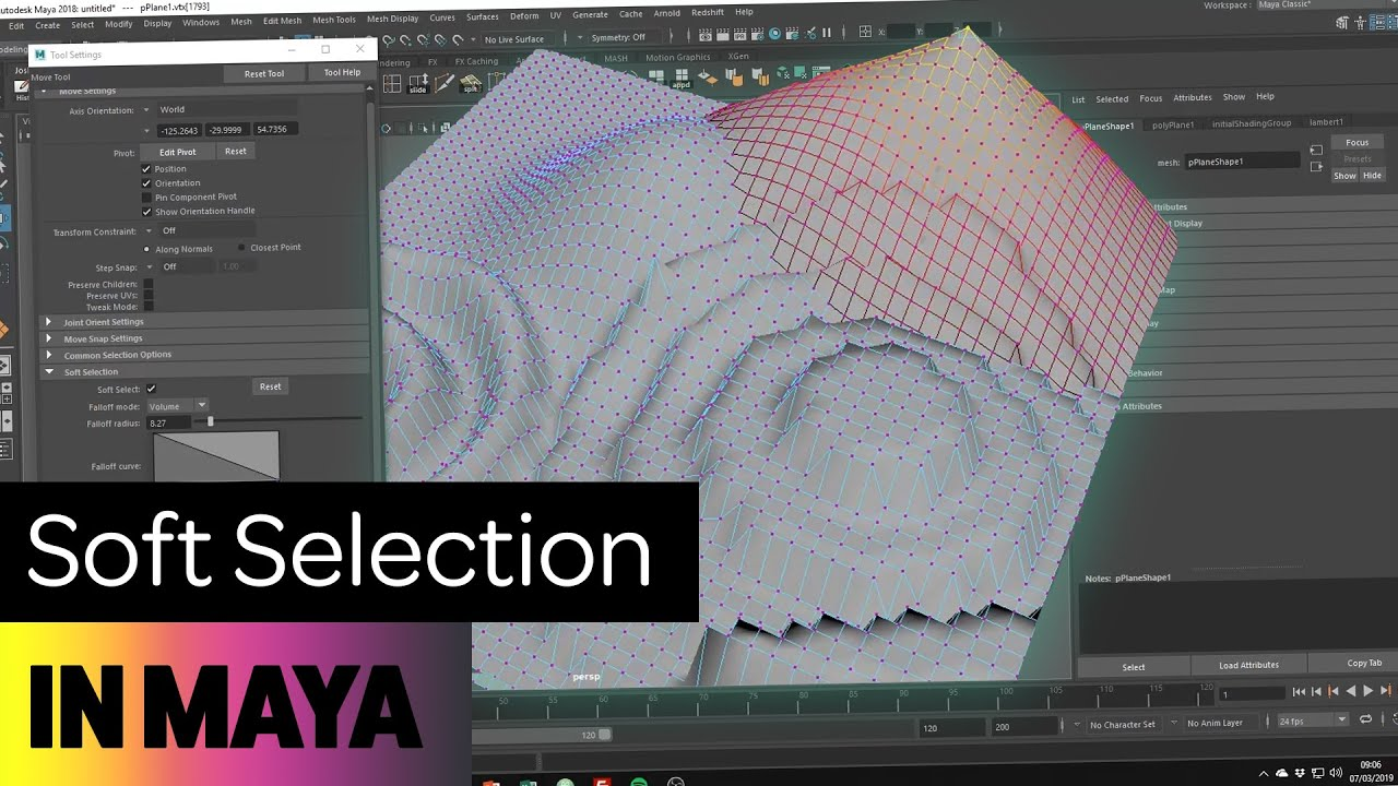 How to use Soft Selection in Maya