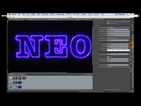 MODO 11: 3D Neon Sign - Curve Modeling Tutorial