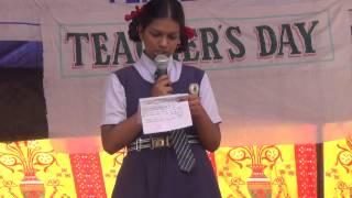 TEACHERS DAY SPEECH IN HINDI BY PREETHI IX HMHS FEROZGUDA