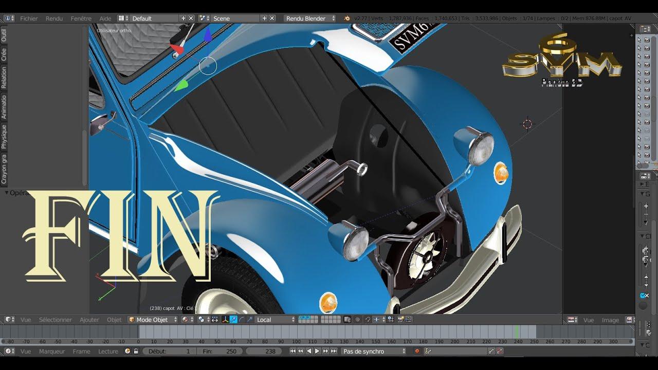 mod liser une voiture 2cv citro n a z tutoriel svm6 n 127 joues d 39 aile compartiment moteur youtube. Black Bedroom Furniture Sets. Home Design Ideas