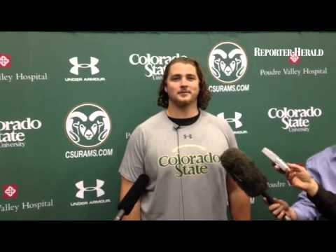 Ty Sambrailo on his pro day at Colorado State