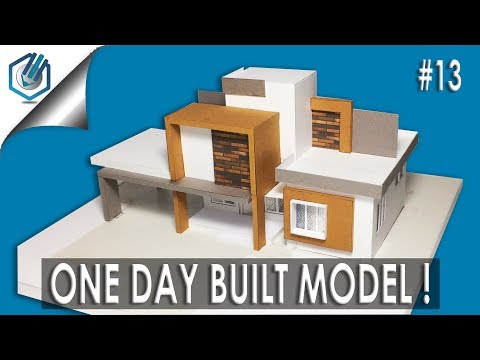MODEL MAKING OF MODERN ARCHITECTURAL RESIDENTIAL BUILDING