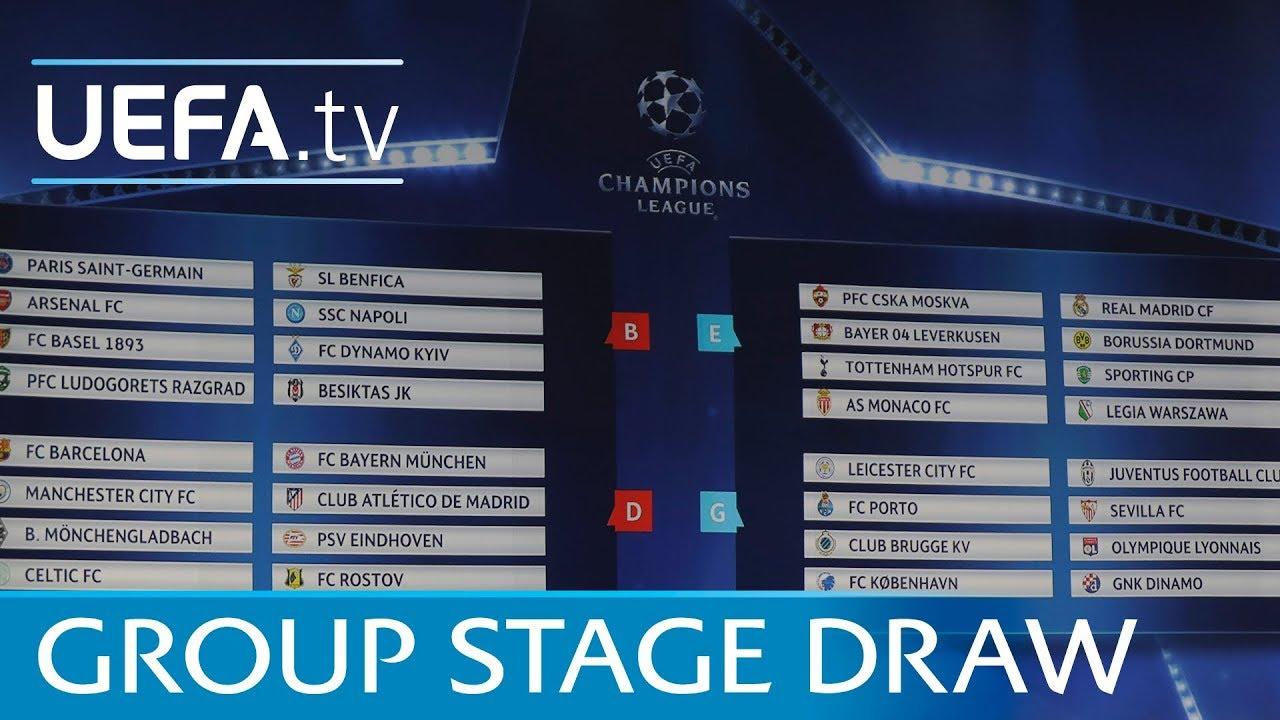 Uefa Champions League Draw 2018 19 Live Youtube