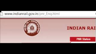 IRCTC Indian Railway PNR Status