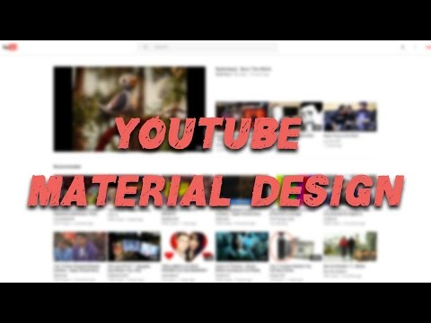 YOUTUBE MATERIAL DESIGN - How to get the New Desktop Site