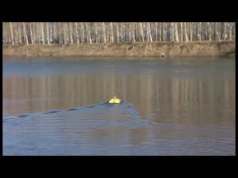 Oceanscience Z Boat 1800 Remote Echosounder Hydrographic River Surveying in Moldova 2013