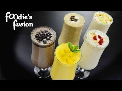 আইসক্রিম ছাড়া ৫টি ঠান্ডা স্বাস্থ্যকর মিল্কশেক - 5 Homemade Milkshakes without icecream -Iftar Drinks