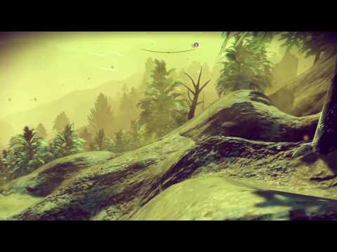 Snow storm on forest mountain - No Man's Sky