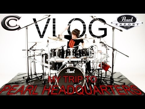 My Trip To Pearl Headquarters! - NEW Pearl Export Series Drums - Vlog 1