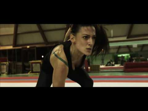 Fight training session shooting _ stunt performers