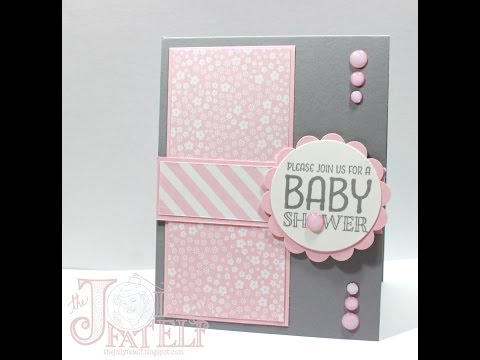 Saturdays with Stampin Up! Baby Shower Invitation Part 3