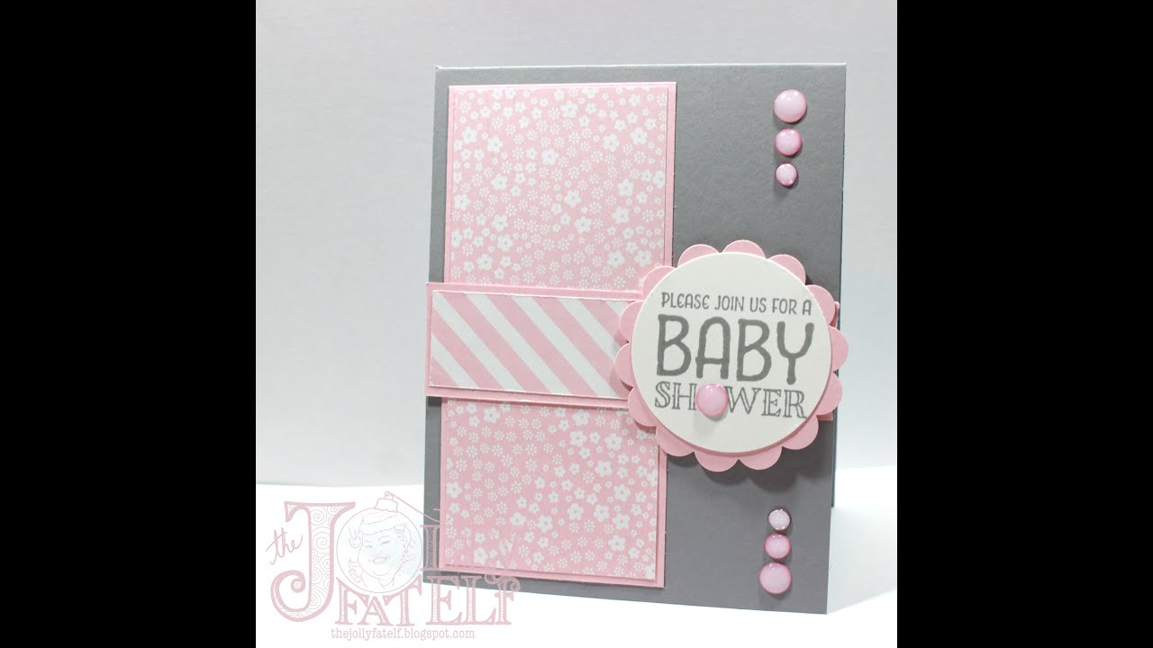 Saturdays With Stampin Up Baby Shower Invitation Part 3 Youtube
