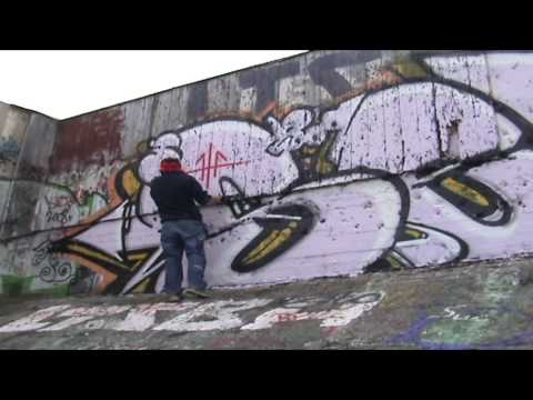 Graffiti Power| Block Piece | Painting a very large block pi