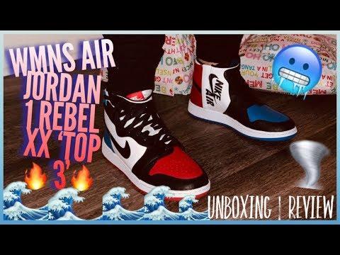 b4e64ba22855ef WMNS AIR JORDAN 1 REBEL XX  TOP 3  UNBOXING