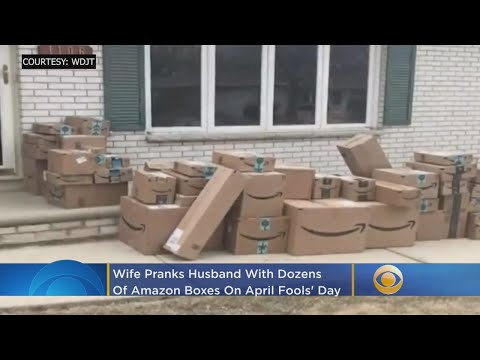 Wisconsin April Fools Day Prank >> Wife Pranks Husband With Dozens Of Amazon Boxes On April Fools Day