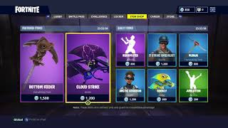 Fortnite Item Shop - May 9th - BOTTOM FEEDER, CLOUD STRIKE, REANIMATED