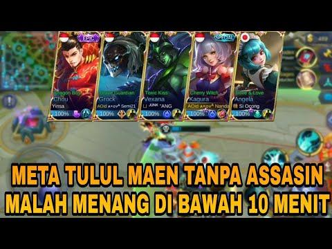 META TULUL MAEN TANPA ASSASIN MALAH MENANG DI BAWAH 10 MENIT WKWK  Mobile Legends